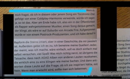 Caspar in Spex No347 Seite 26f