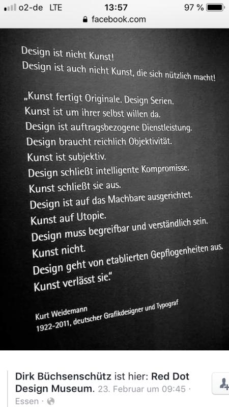 design ist nicht kunst
